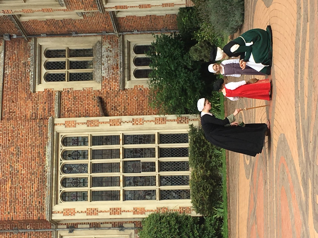 Maids play with children at Tudor Kentwelll