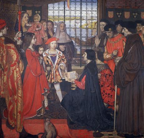Prince Henry Tudor greets Erasmus at Eltham Palace