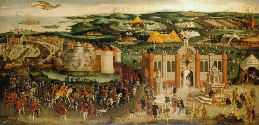 The Field of the Cloth of Gold painting, c.1545