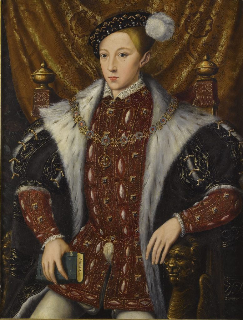 A portrait of King Edward VI of England, who bought The Three Brothers for the English Crown Jewels.