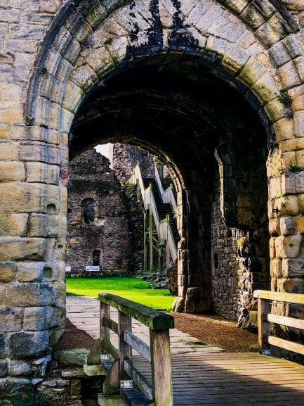 The entrance to Middleham Castle