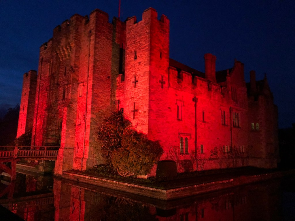 Hever Castle illuminated for Christmas
