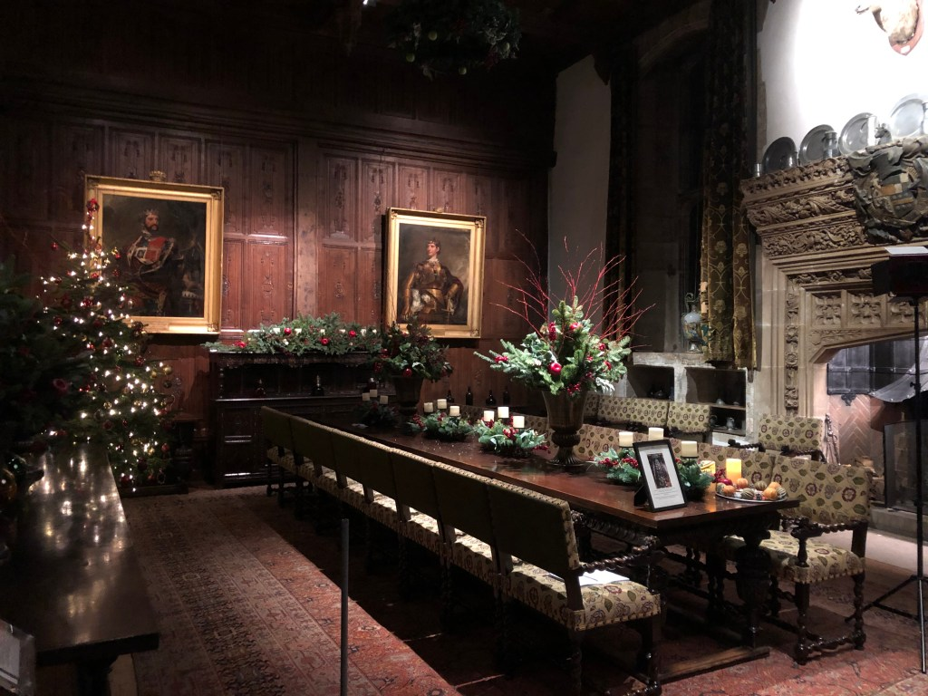 Hever at Christmas: the great hall