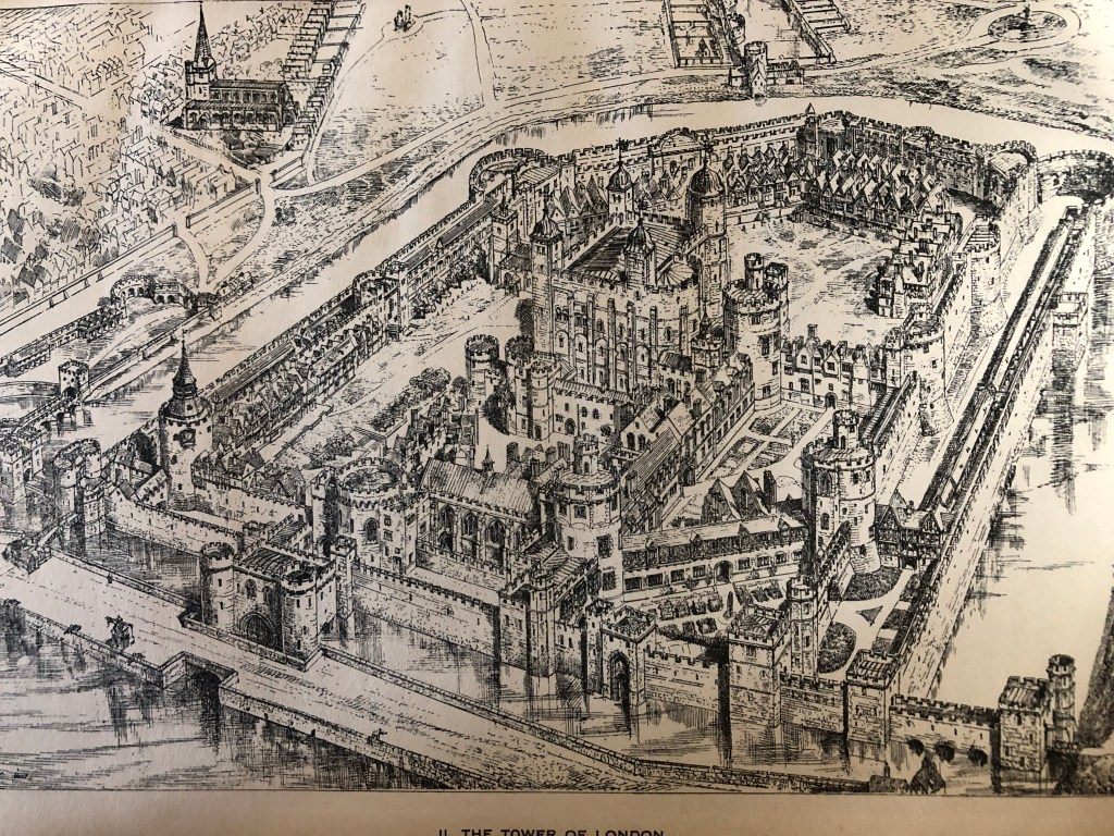 The Tower of London during the sixteenth-century. Anne Boleyn's coronation procession left from here on 31 May 1533.