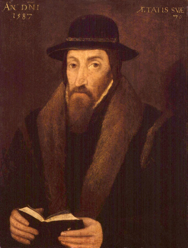 An oil painting of Reformist John Foxe