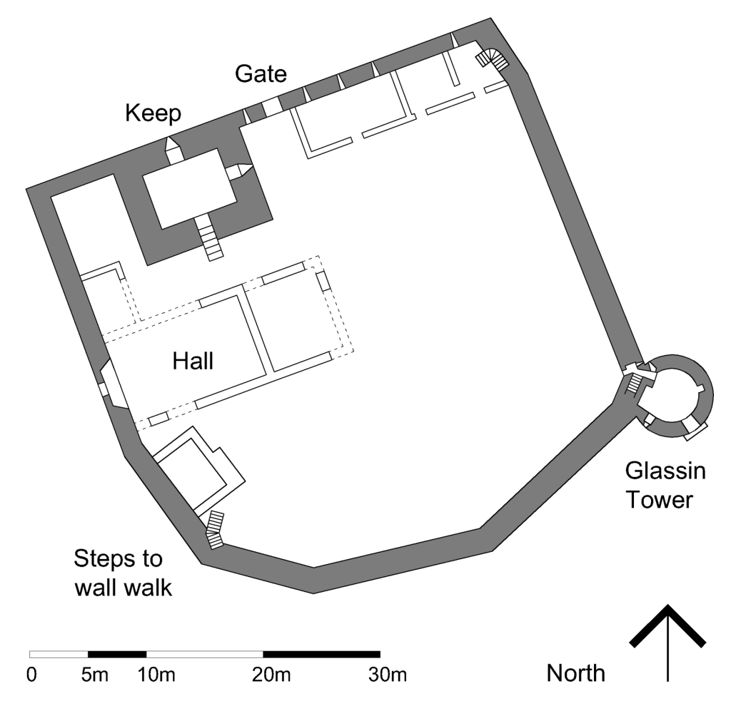 A plan of Loch Leven Castle