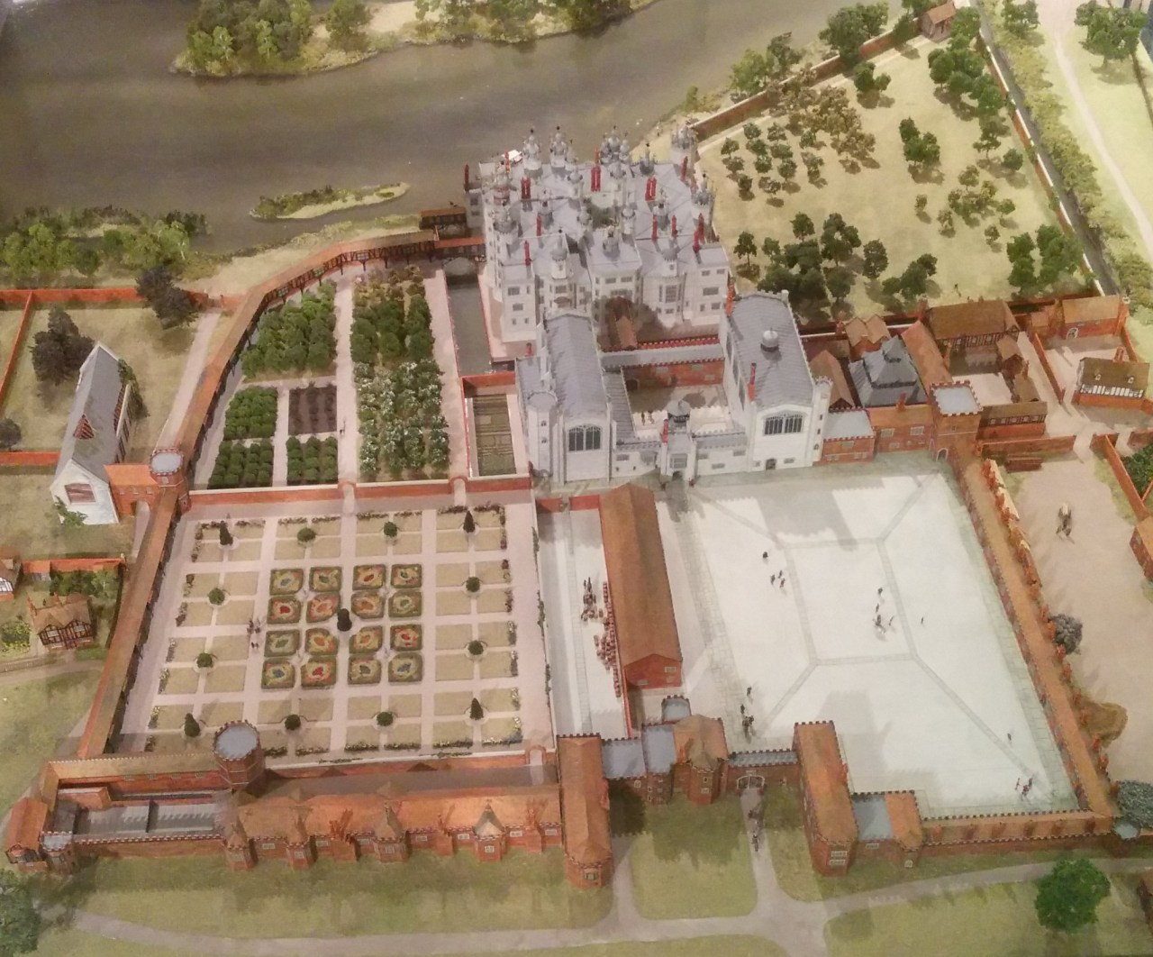Model of Richmond Palace - the place of Elizabeth I's death
