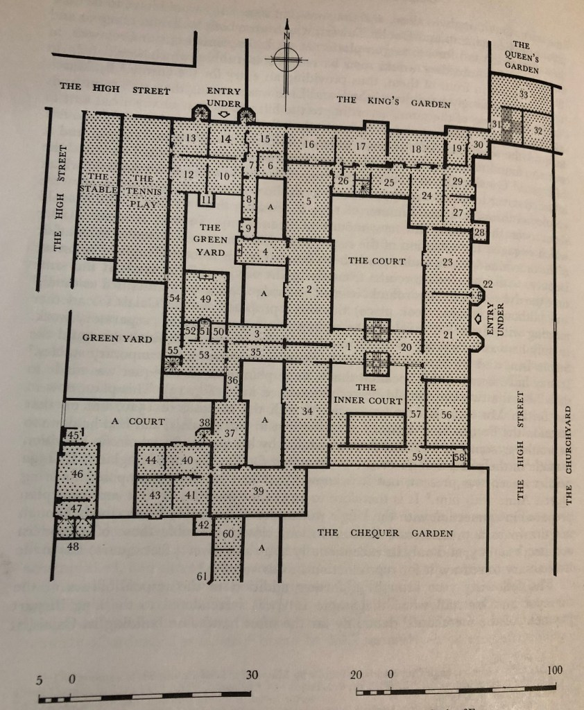 Floor plan of the old Exchequer in Tudor Calais