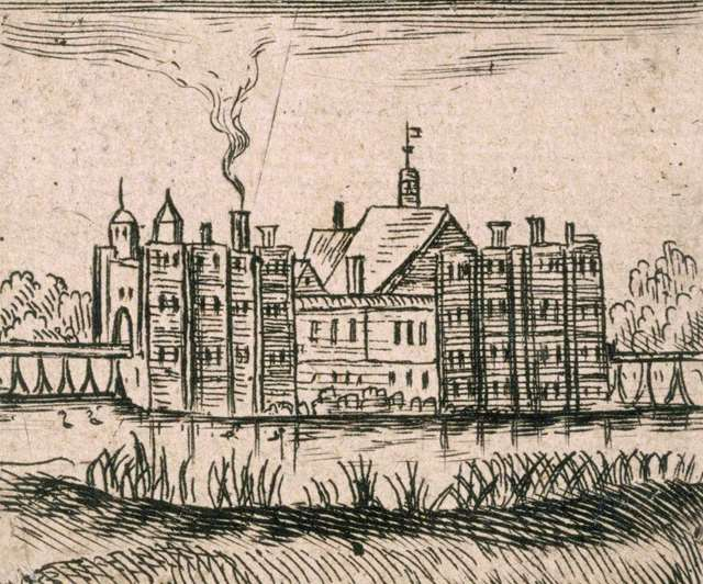 An early drawing of Eltham Palace