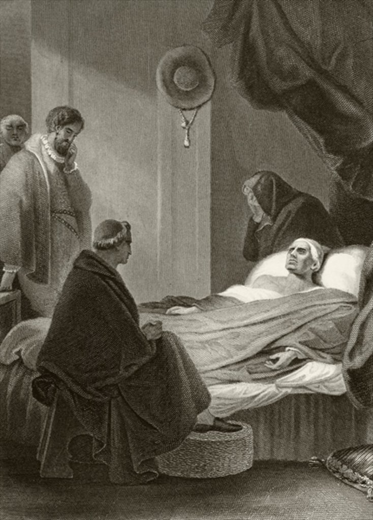 Thomas Wolsey lays dying
