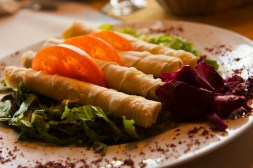 Sigara Borek with goats cheese