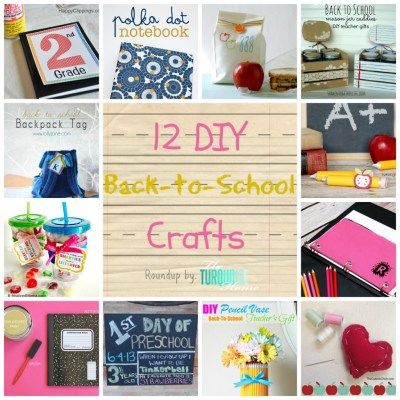 DIY-Back-To-School-Crafts-Roundup-TheTurquoiseHome.com-Collage