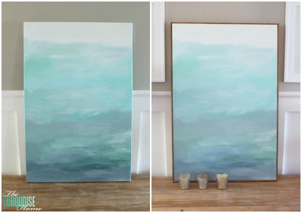 How to Frame a Canvas (for Cheap!) | The Turquoise Home