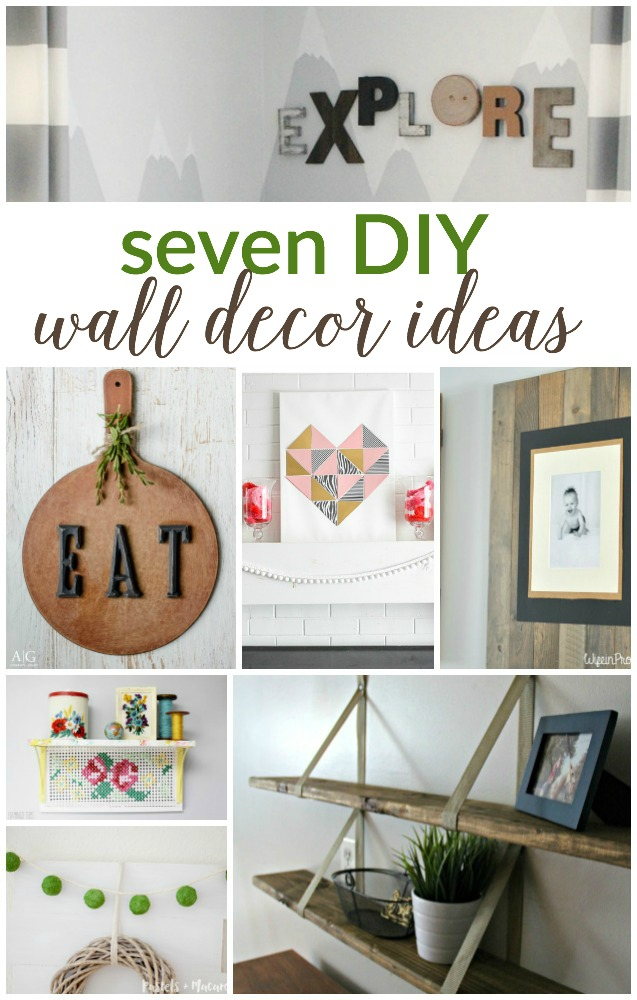 7 DIY WALL DECOR IDEAS (WORK IT WEDNESDAY) - PLACE OF MY TASTE on Wall Decoration Ideas At Home  id=71786