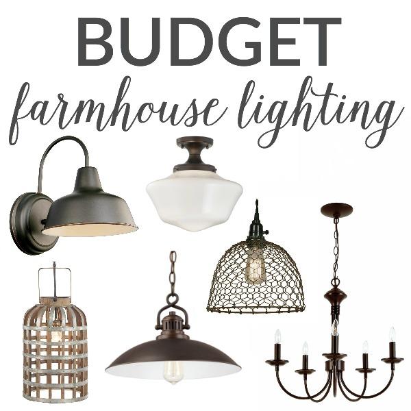 farmhouse lighting on a budget the