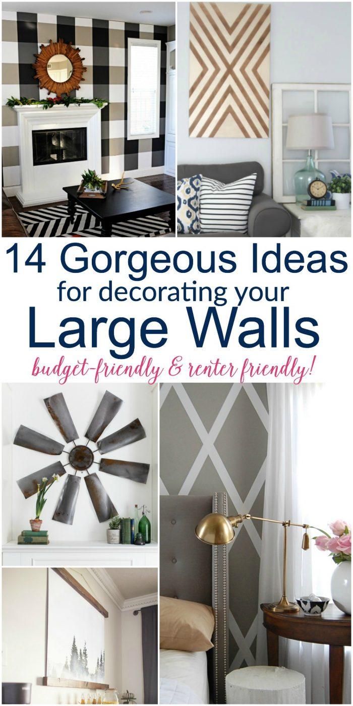 Large DIY Wall Decor Ideas (lots of renter friendly ... on Pinterest Wall Decor  id=31459