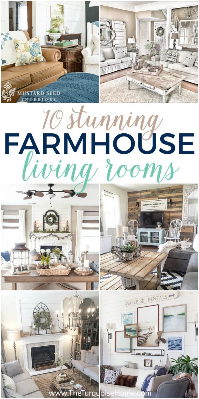 Farmhouse Decor in 10 Stunningly Gorgeous Living Rooms on Farmhouse Style Living Room Curtains  id=87907