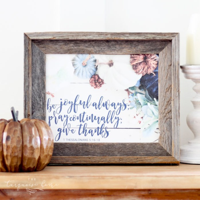 Be Joyful Always Free Fall Printable