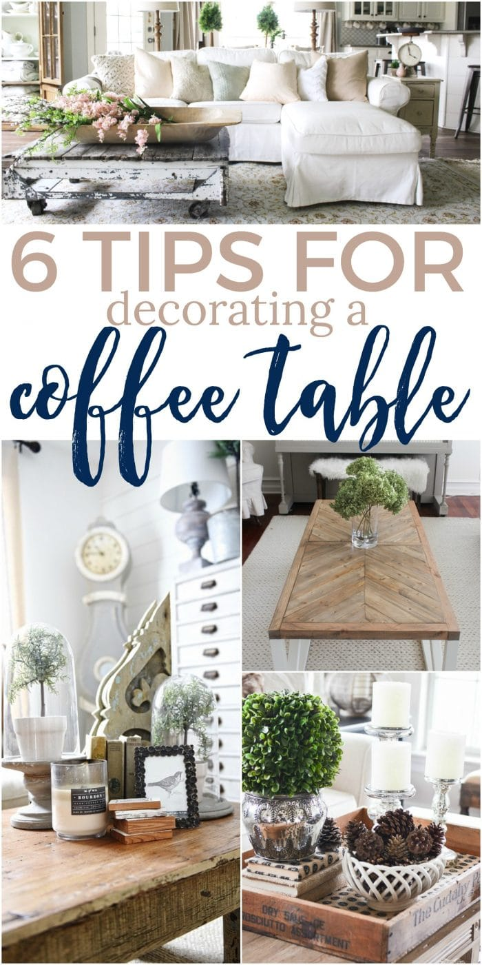 6 tips for decorating a coffee table