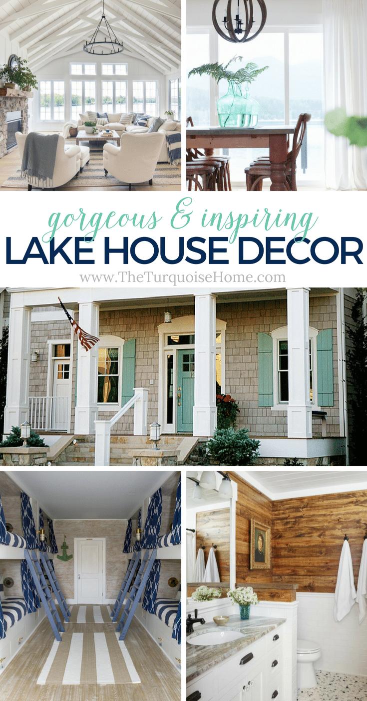 Beautiful Lake House Decor {inspiration}   The Turquoise Home on Beautiful Home Decor  id=16977