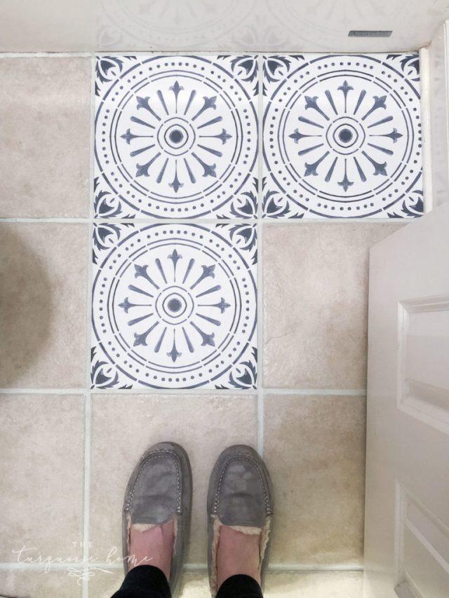 diy peel and stick vinyl tiles 1