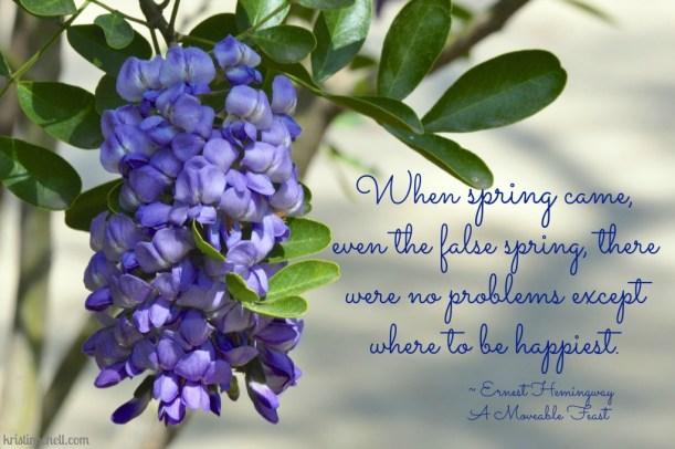 Ernest Hemingway Spring Quote WM