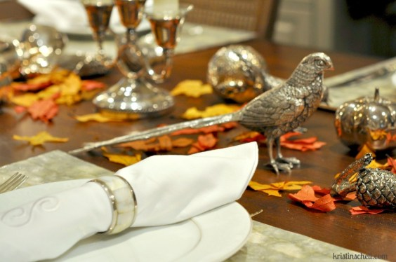 Fall tablescape from Kristin Schell