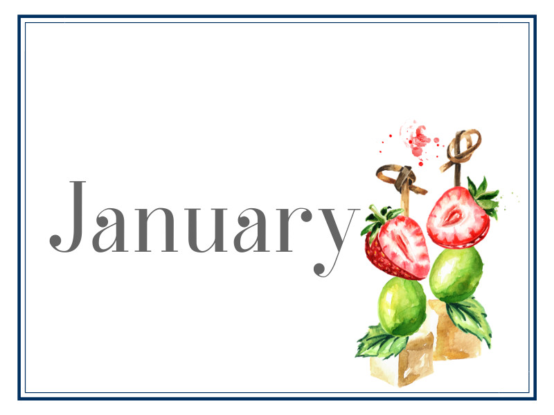 January Suppers for Sharing