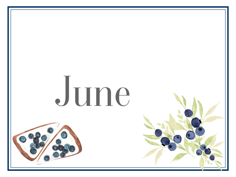 June Suppers for Sharing