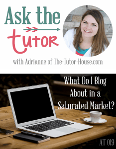 AT019 - What do I blog about in a saturated market?