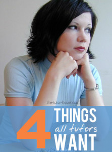 four things tutors want