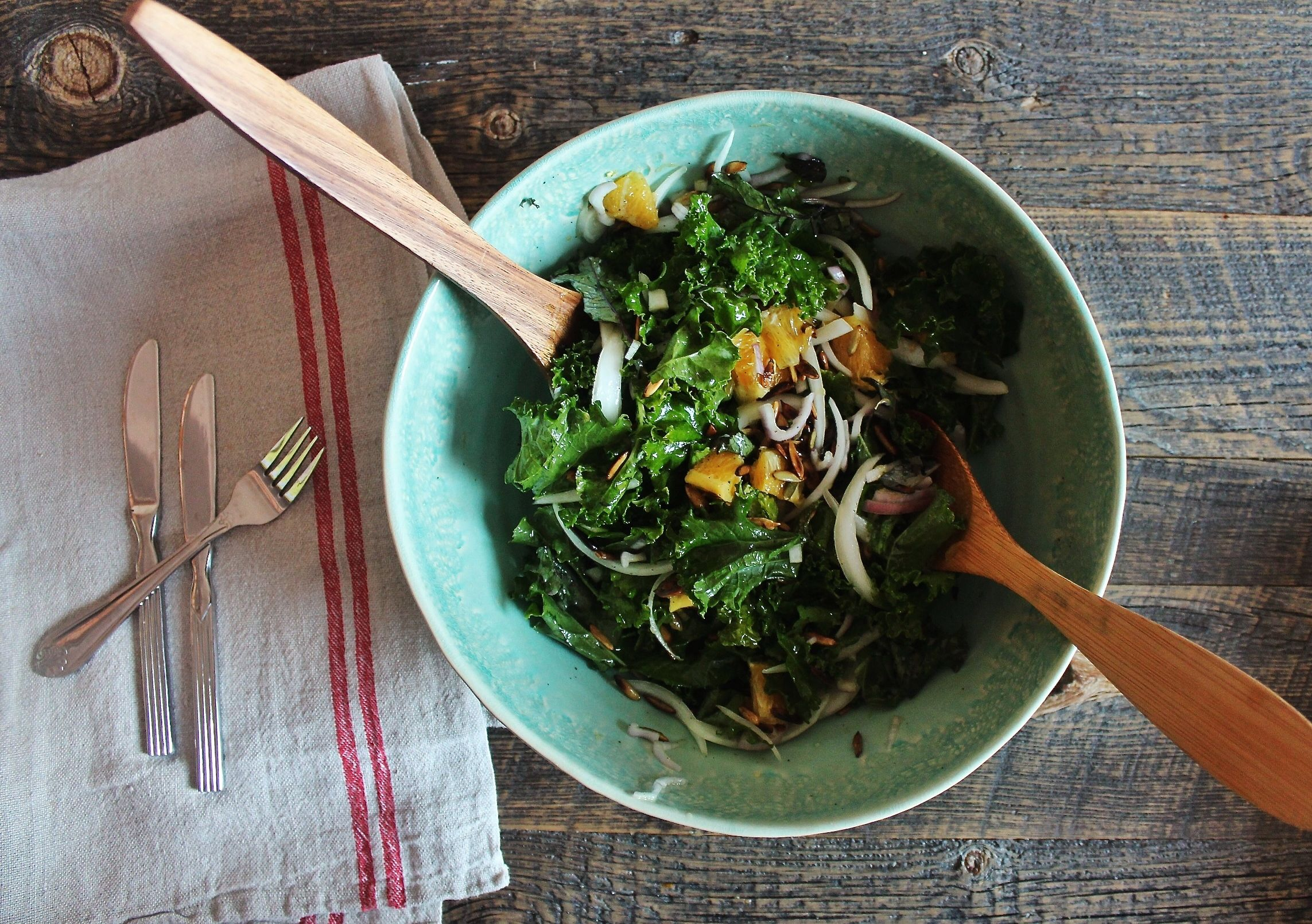 Noah S Citrusy Crunchy Kale Salad Tv Dinner Healthy Recipes For
