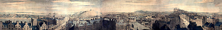A portion of the Robert Barker Edinburgh Panorama (1792). (acweb.cs.depaul.edu)