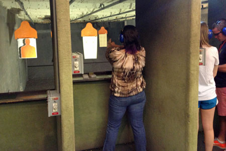 romance at the shooting range