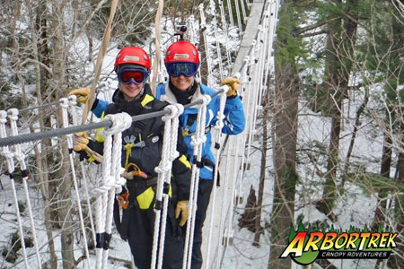 Zip lining with Arbotrek Adventures