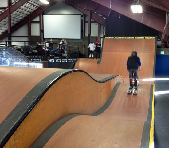 The rollers at Woodward Copper sports training facility.