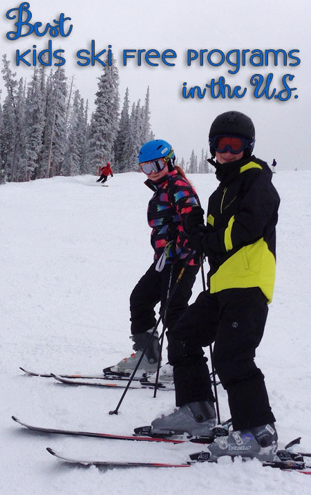 Best kids ski free programs in US.