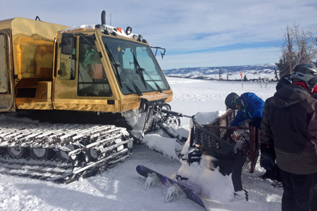 Snowcat skiing adventure at Powder Mountain, Utah