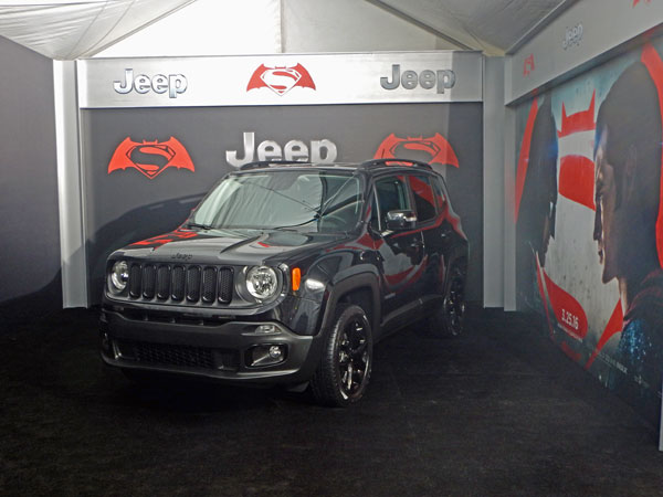 "The ""Dawn of Justice"" Jeep Renegade."