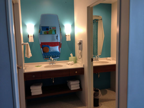 Family Suite bathrooms at Cabana Bay Beach Resort Universal Orlando
