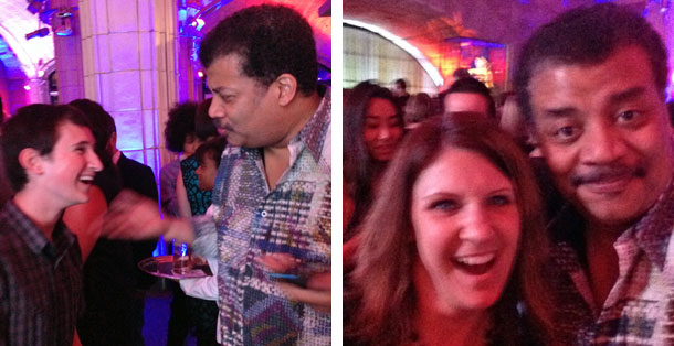 Neil Degrasse Tyson of Cosmos at Batman vs. Superman after party.