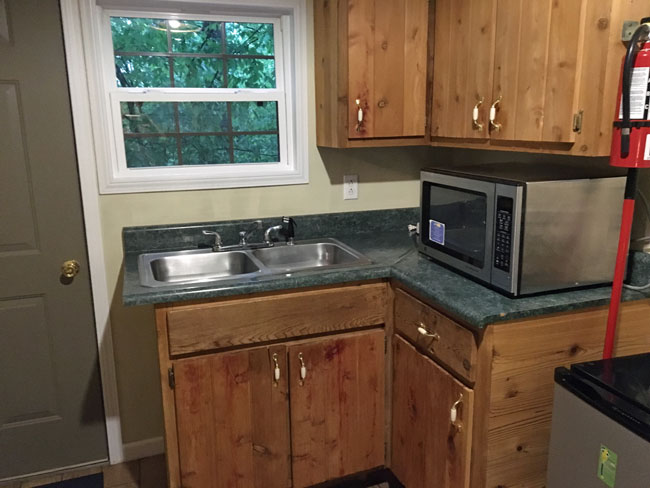 Kitchenette at Laurel Cabin, ACE Adventure Resort, WV