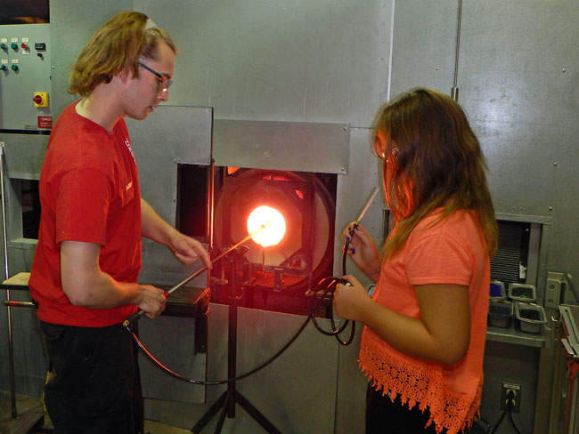 Make your own glass creation at the Corning Museum of Glass, Corning, NY