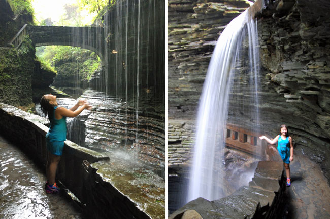 Amazing waterfalls along the gorge trail at Watkins Glen State Park, NY