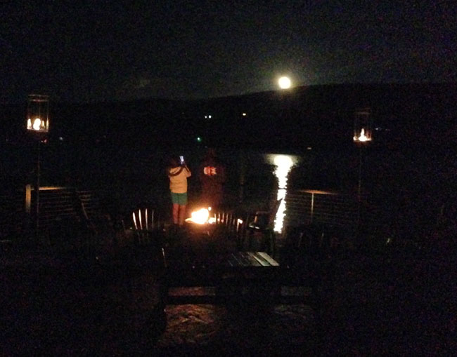 Watching the moon rise over Keuka Lake in the Finger Lakes of NY.