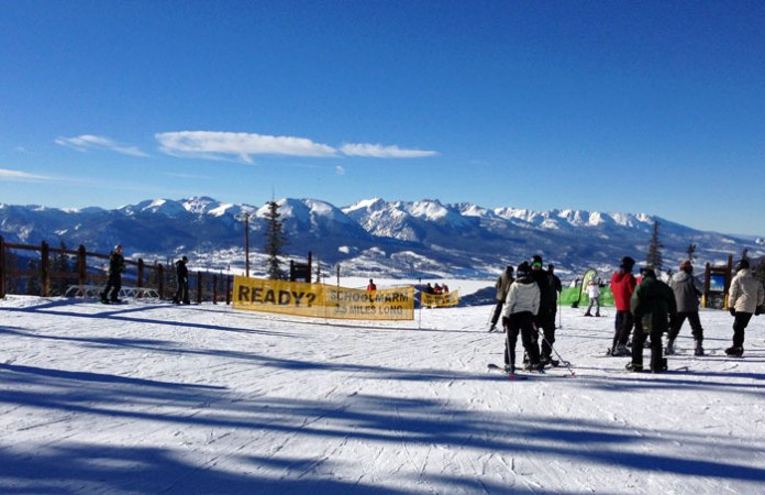 Gorgeous view and fantastic skiing await you at Keystone, Colo.
