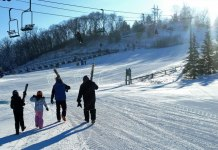Mount Kato in Mankato, MN is a terrific place for midwestern families to learn to ski.