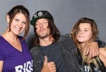 Photo op with The Walking Dead's Norman Reedus.