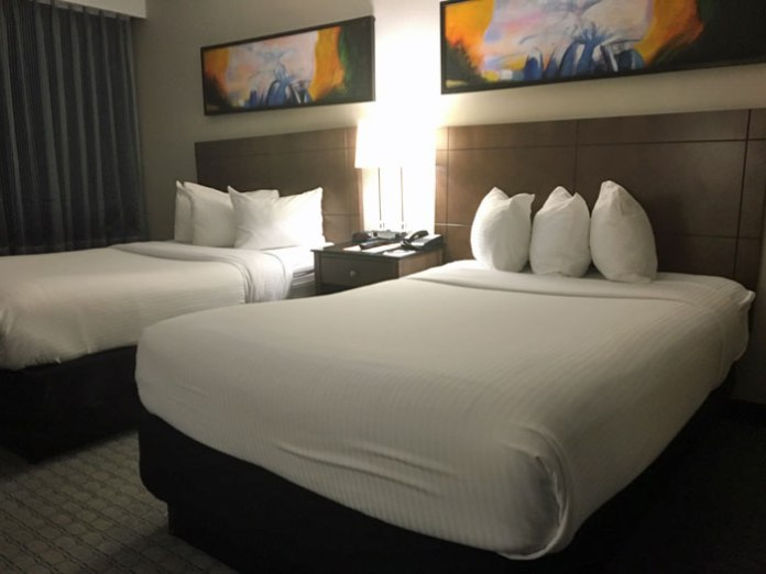 Spacious rooms and great amenities at the Hill Hotel in Laguna Hills, CA.