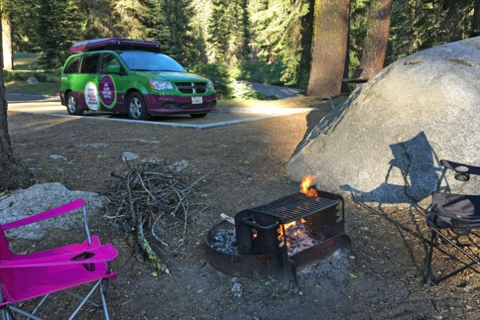 Our campsite at the Dorst Creek Campground in Sequoia National Park.